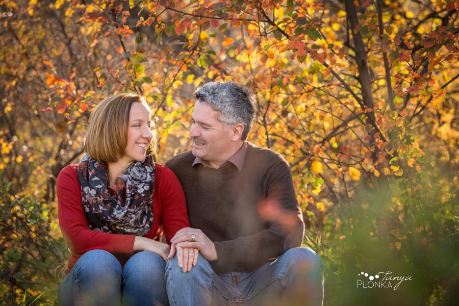 Lethbridge River Bottom autumn couples portrait session