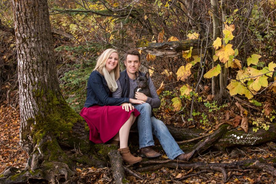 Waterton autumn engagement photos
