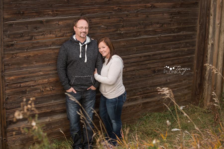 Late Autumn Lethbridge river bottom couples session