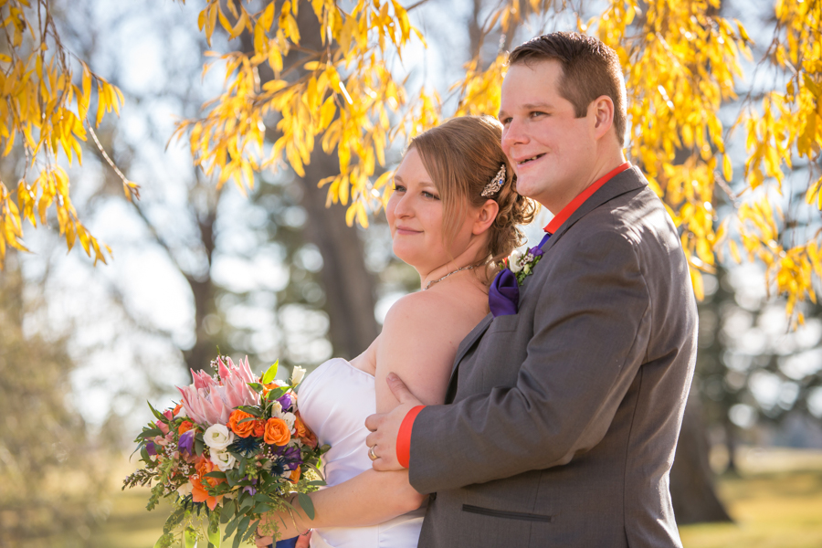 Stephanie & Paul, Lethbridge Halloween themed wedding photos