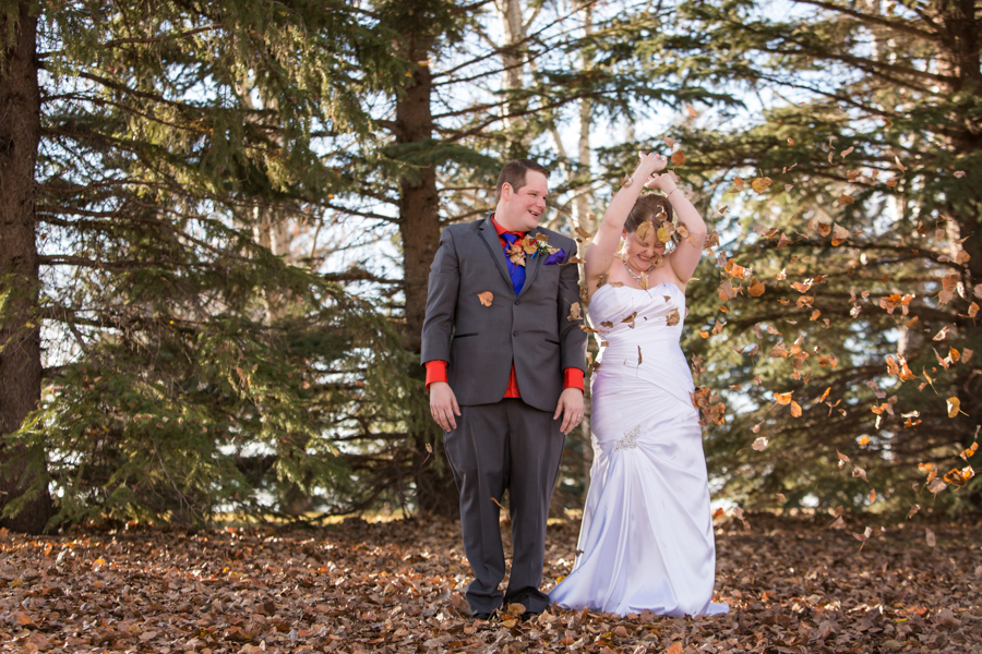 Stephanie & Paul, Lethbridge Halloween wedding photos