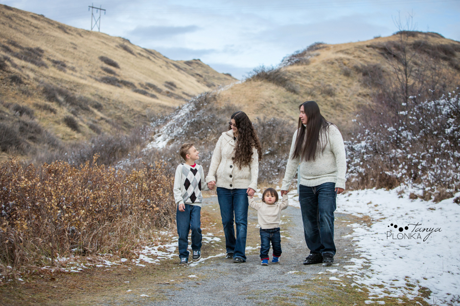 Lethbridge winter family photo session