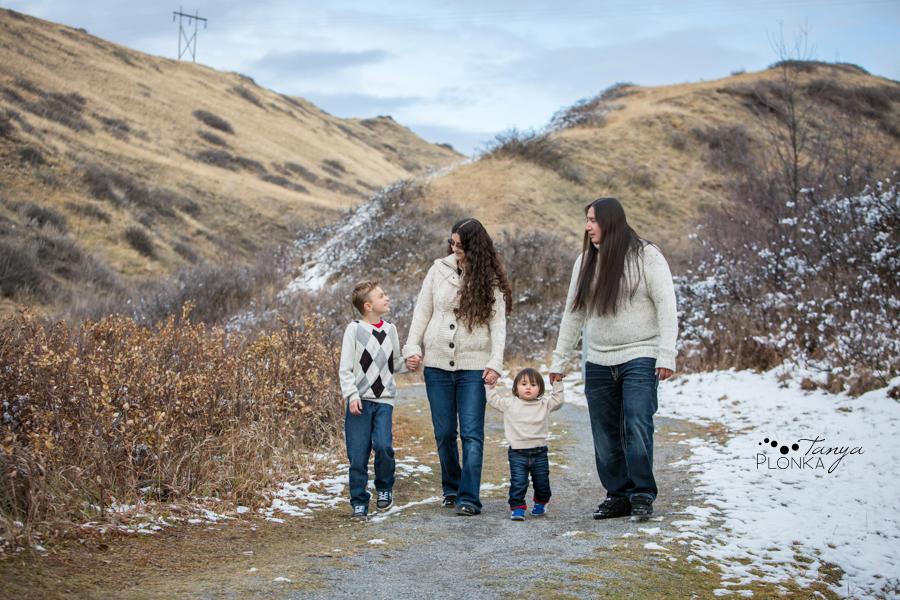 Lethbridge winter family photo session