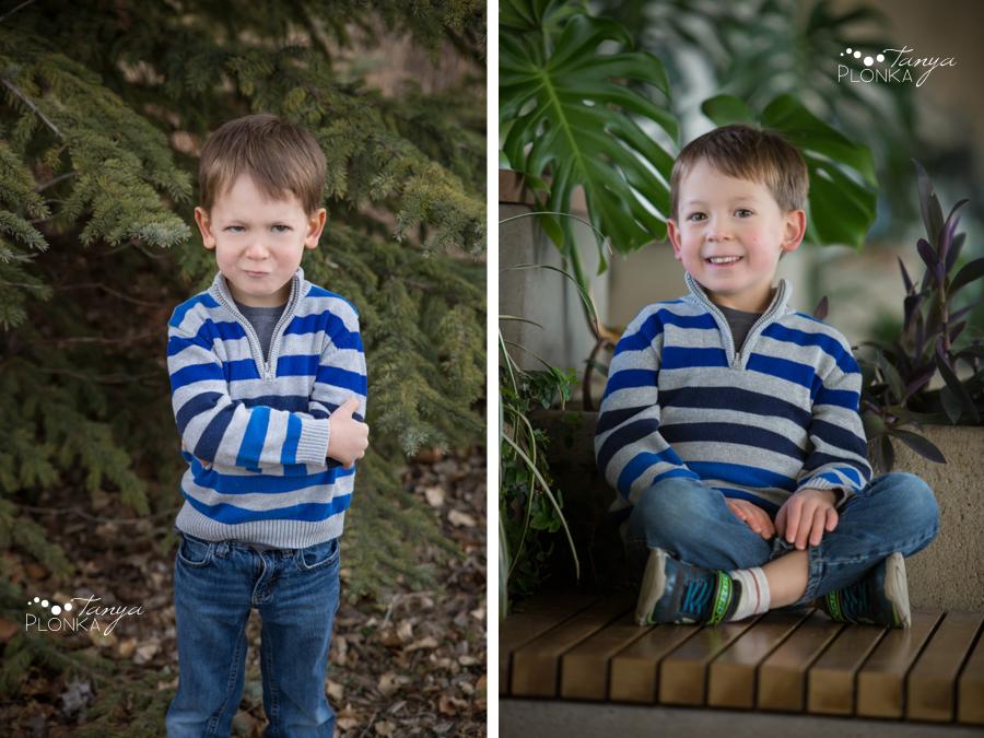 young boy birthday portraits in Lethbridge
