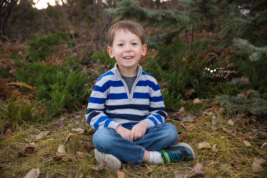 young boy birthday portraits in Lethbridge
