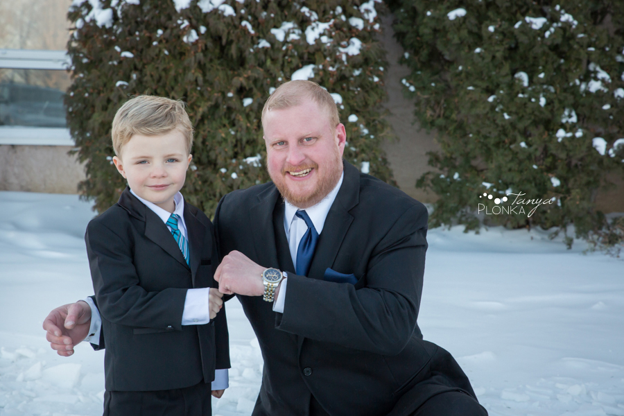 Kevin & Kayla, snowy Coaldale winter wedding photos