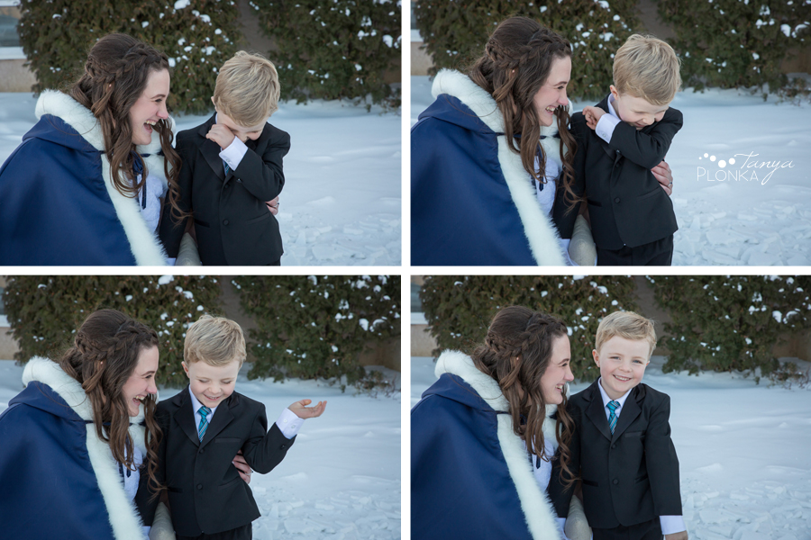 Kevin & Kayla, Alberta winter wedding photos