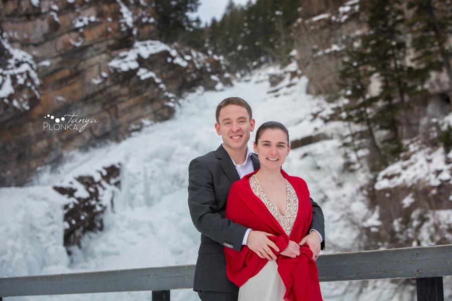 Terri & Craig, Waterton winter wedding elopement photography