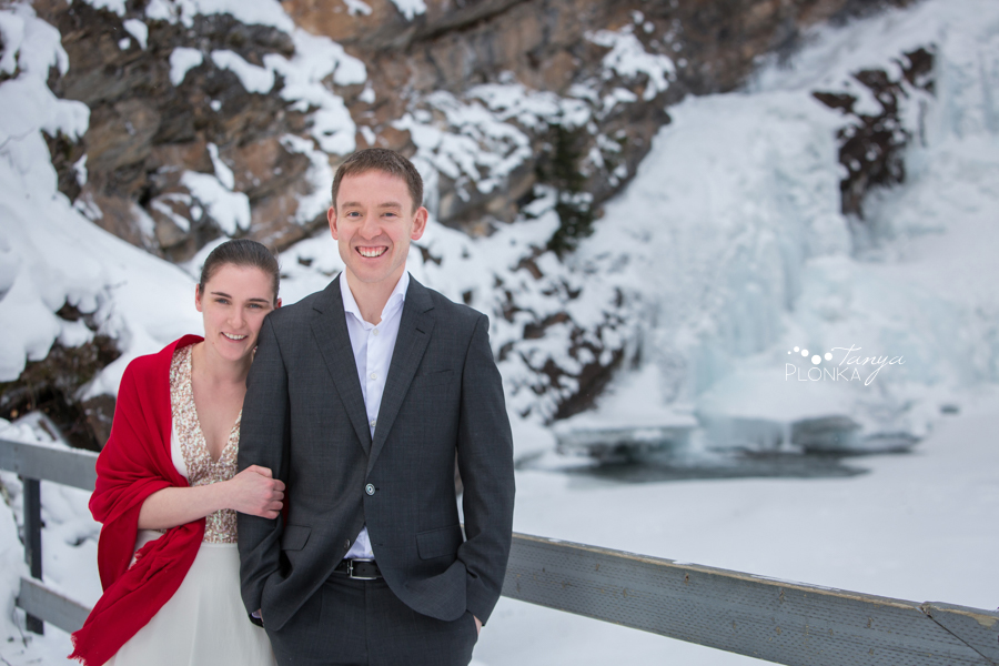 Terri & Craig, Waterton winter wedding elopement