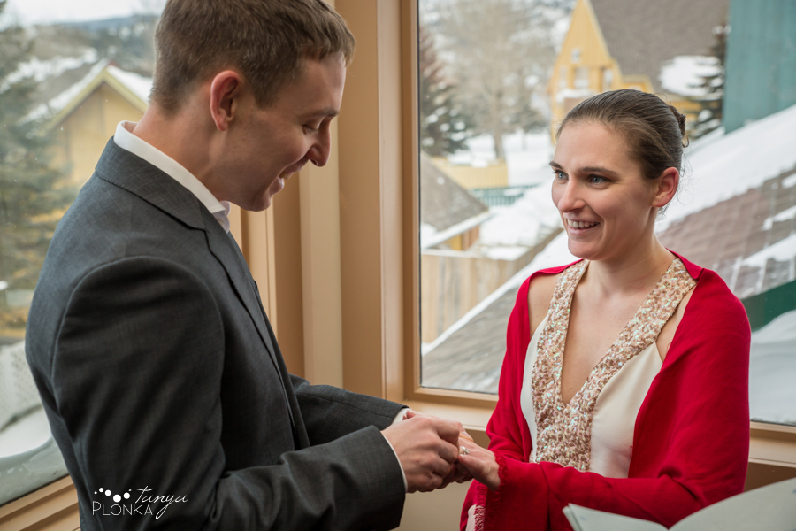 Terri & Craig, Waterton winter wedding elopement