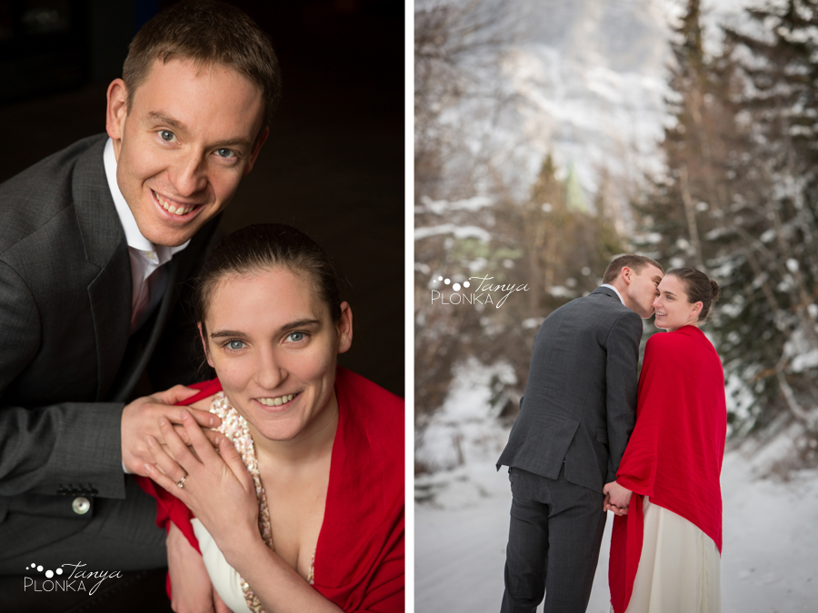 Terri & Craig, Waterton winter wedding elopement photography
