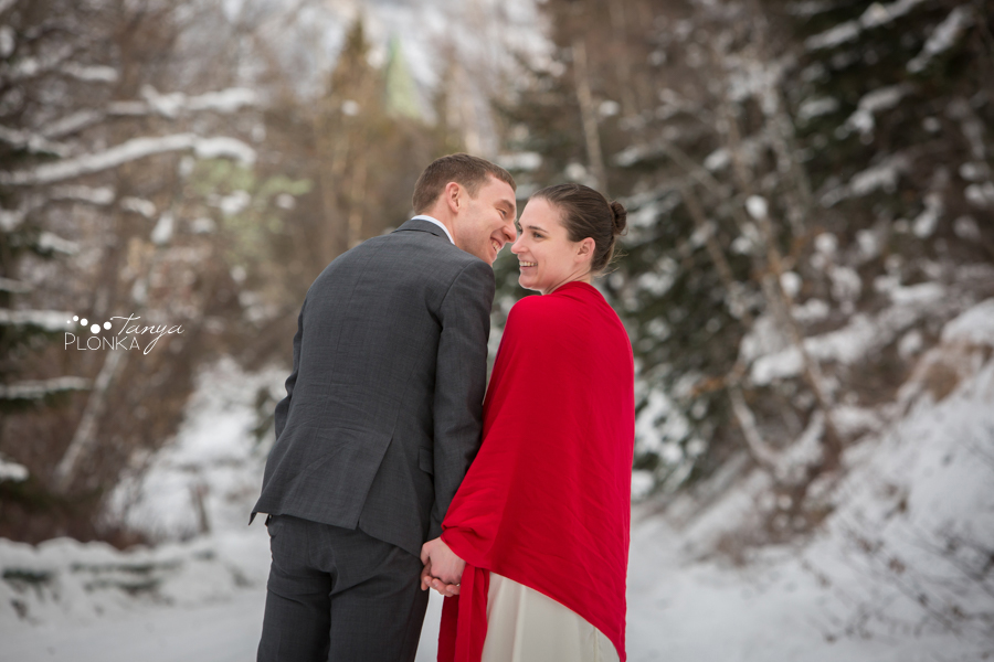 Terri & Craig, Waterton winter elopement