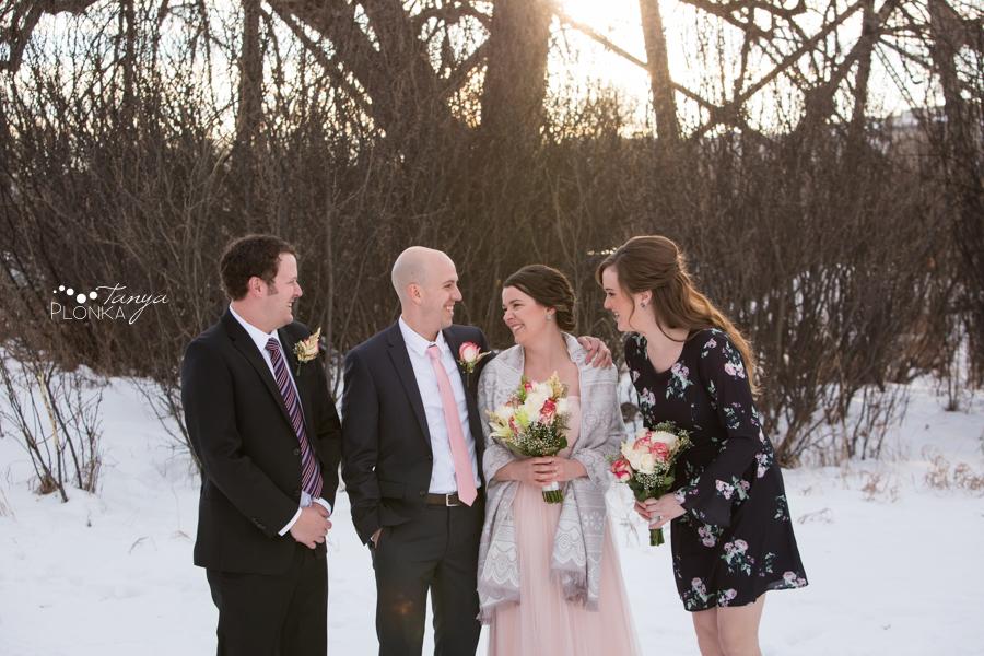 Lynn & Kaitlyn, Lethbridge New Years Eve winter wedding