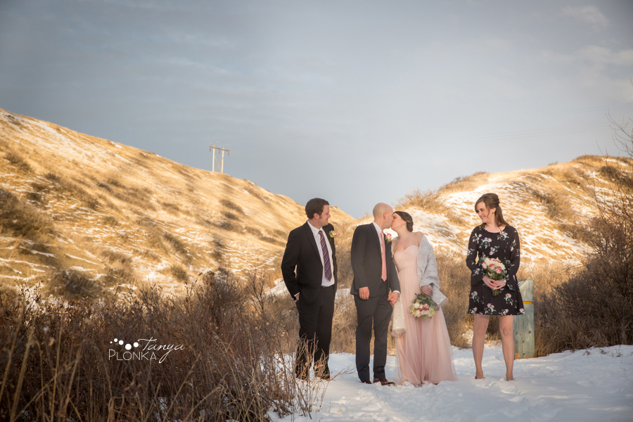 Lynn & Kaitlyn, Lethbridge New Years Eve winter wedding