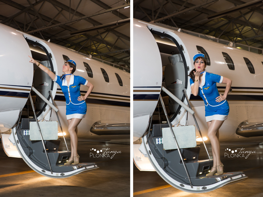 aviation themed pinup photoshoot for Ammena Dance Company