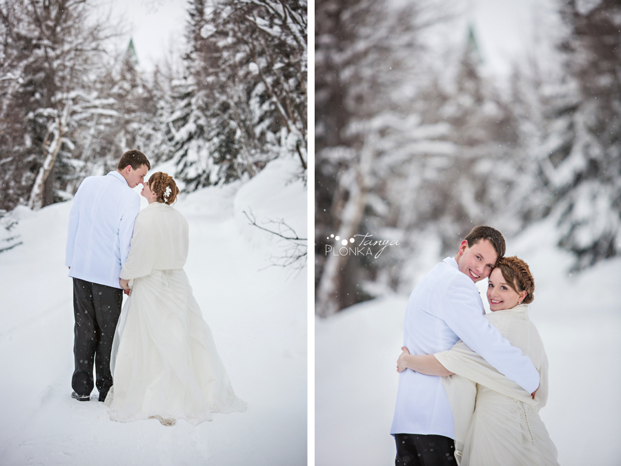 Jeremiah and Hannah, Waterton Lakes Lodge Resort winter wedding