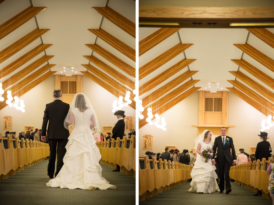 Melinda and Henk, Picture Butte church wedding ceremony