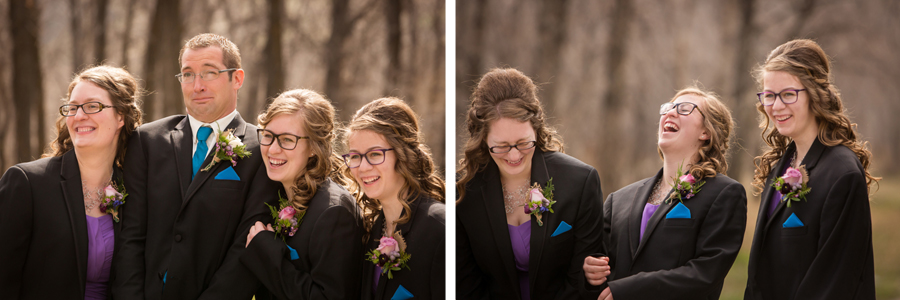 Melinda and Henk, early spring Lethbridge wedding photography