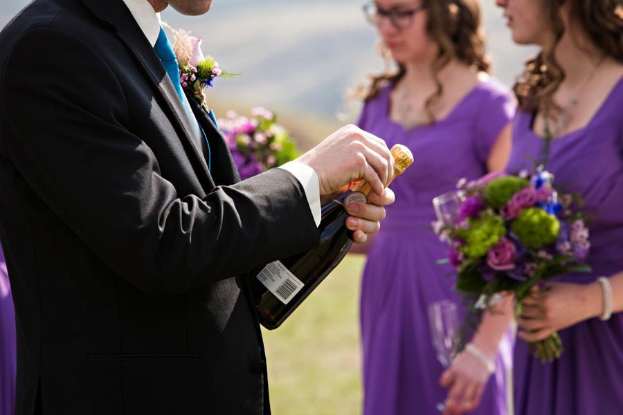 Melinda and Henk, early spring Lethbridge wedding photography