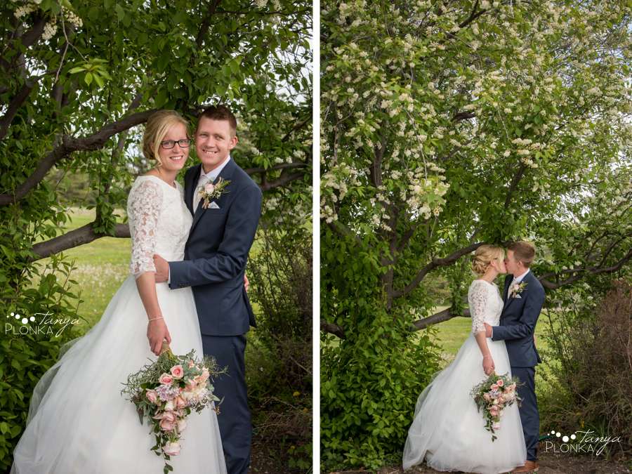 Janelle and Gerald, Fort Macleod spring wedding