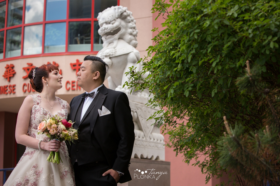 Brittany and Sam, Calgary Chinatown Spring Wedding