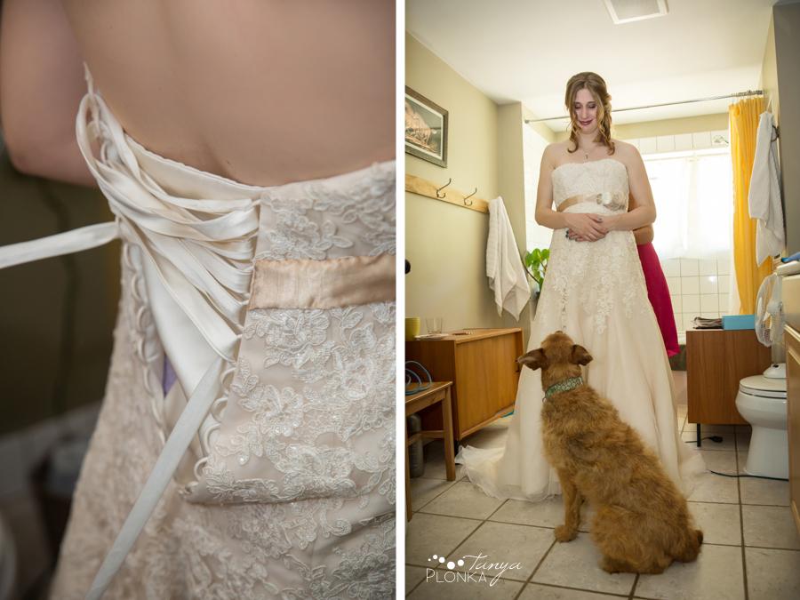 behind the scenes at Chris and Sarah's wedding, Kamloops rainbow themed wedding