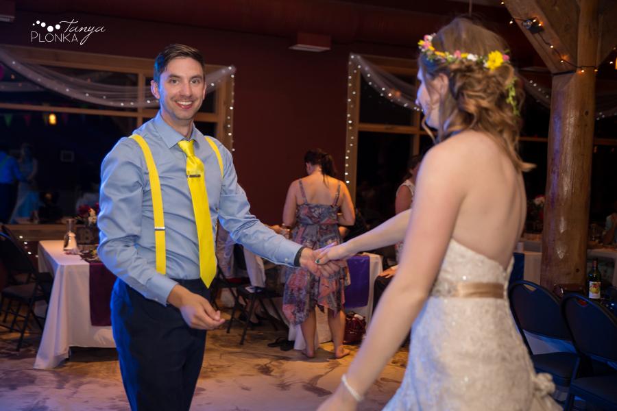 Kamloops rainbow themed wedding, behind the scenes at Chris and Sarah's wedding