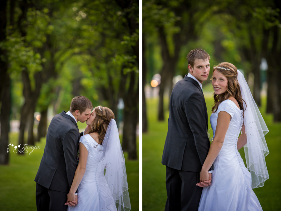 Kim and Nathaniel, Lethbridge Henderson Lake wedding portraits