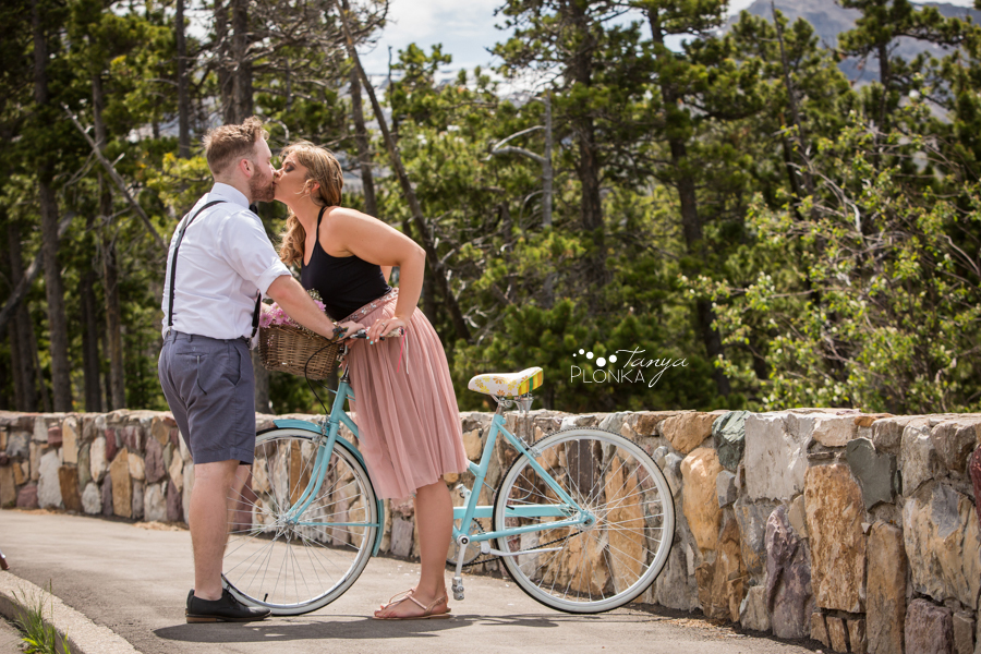 Waterton bicycle adventure engagement session