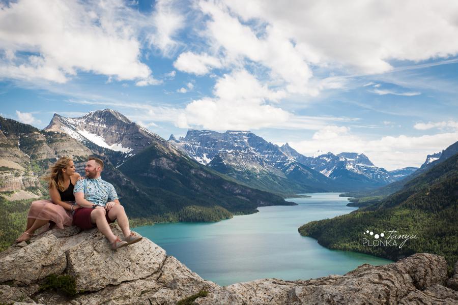 Waterton Bear's Hump engagement photos