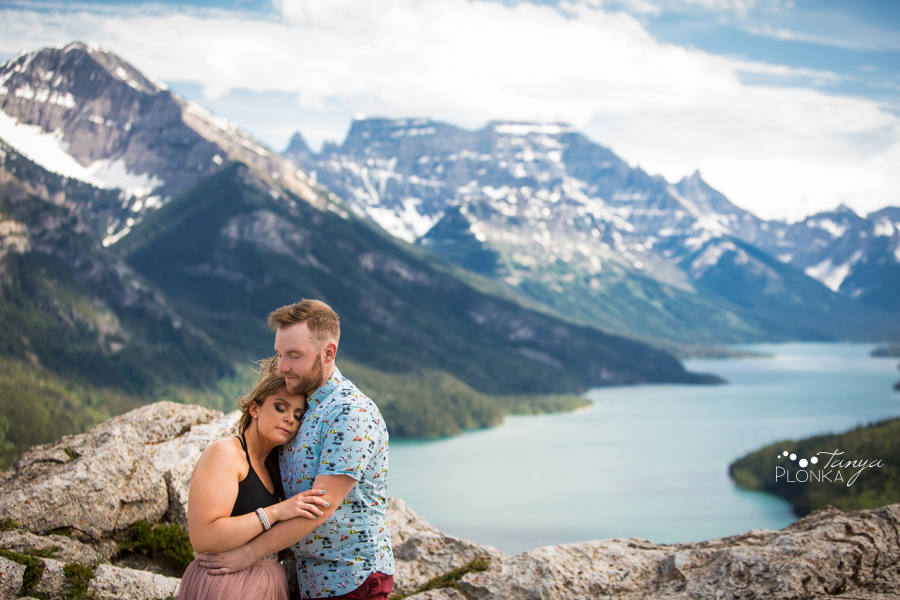 Waterton Bear's Hump engagement photos