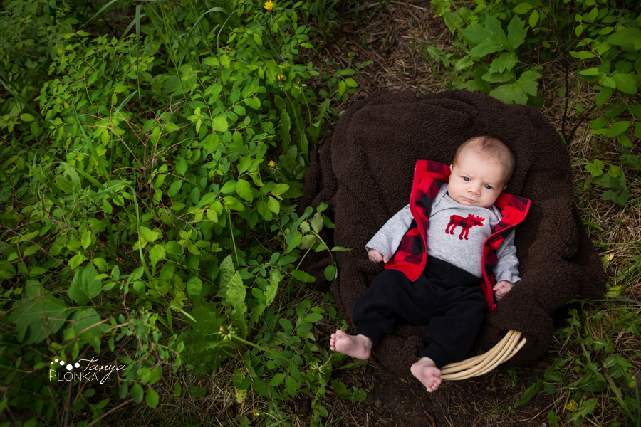Miner's Path outdoor newborn photos
