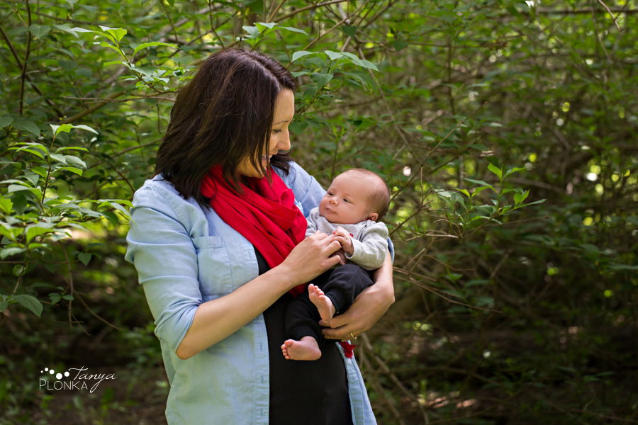 Miner's Path outdoor newborn session
