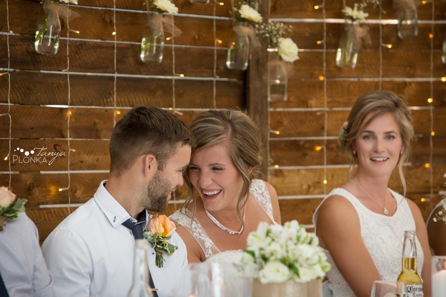 Willianne and Steven, Lethbridge backyard wedding reception