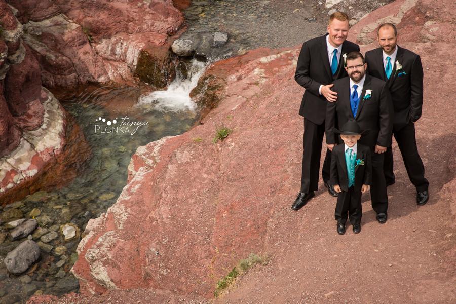 Nicole and Derek, Waterton Red Rock Canyon wedding photos