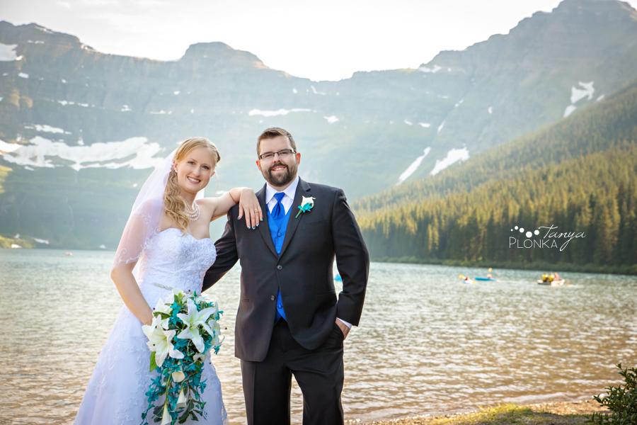 Nicole and Derek, Waterton Cameron Lake wedding photos