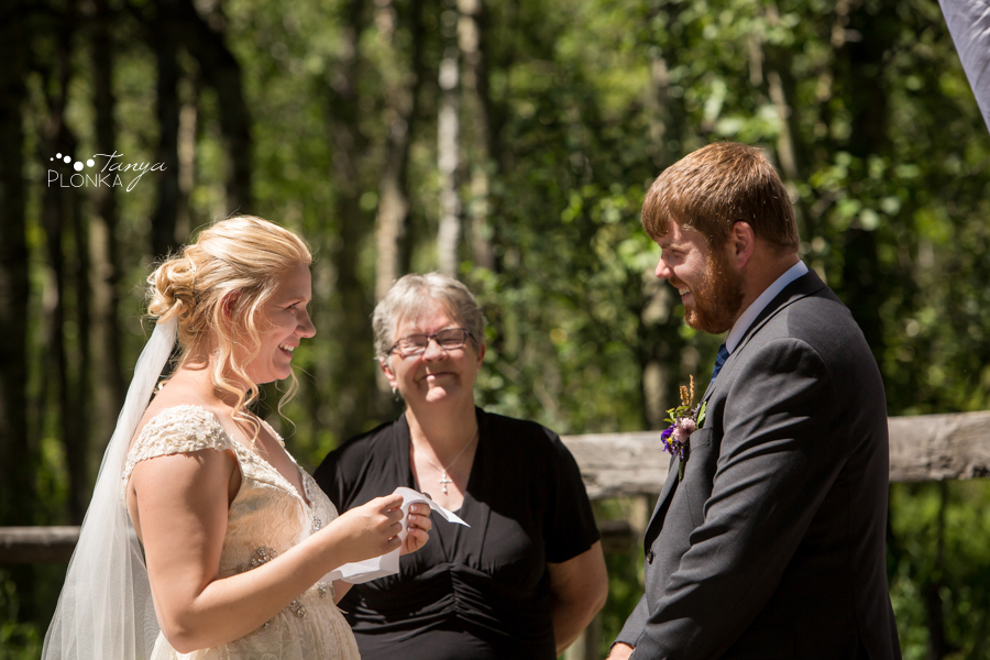 Jodie and Steven, Pincher Creek farm wedding ceremony