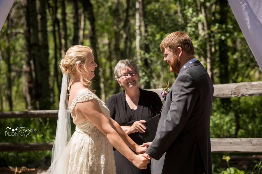 Jodie and Steven, Pincher Creek country wedding ceremony