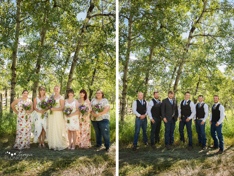 Jodie and Steven, Pincher Creek country wedding