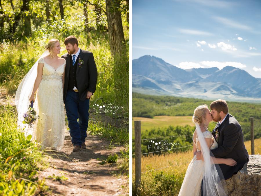 Jodie and Steven, Pincher Creek farm wedding