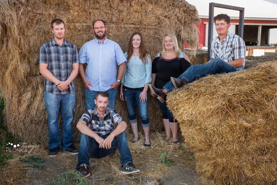 Coaldale family farm portraits