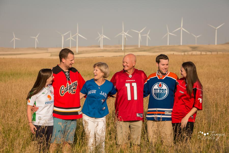 Pincher Creek cabin family photos