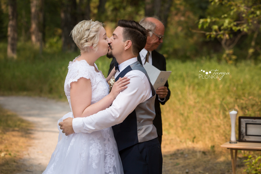 Raylene and Mitchell, Flumerfelt Park outdoor wedding ceremony