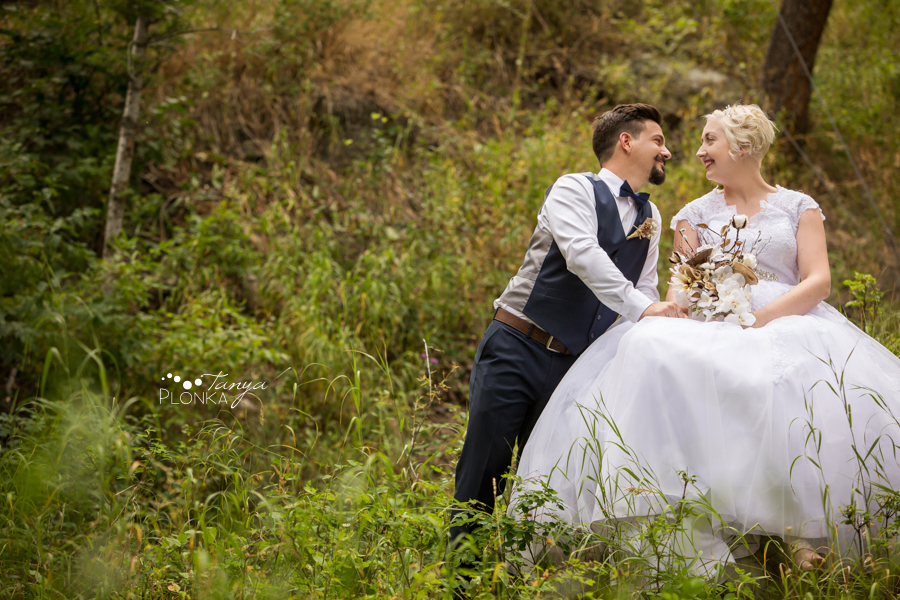 Raylene and Mitchell, Crowsnest Pass outdoor wedding