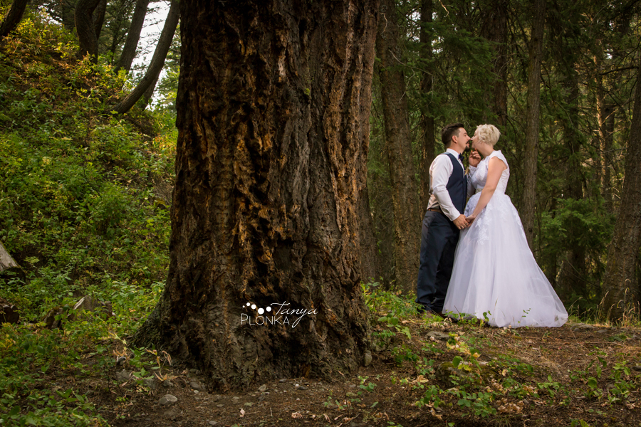 Raylene and Mitchell, Coleman Miner's Path wedding photos