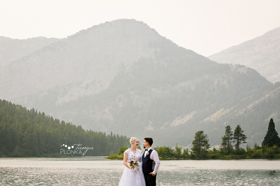 Raylene and Mitchell, Crowsnest Lake wedding photos