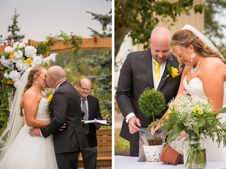 Quintina & Mike, Readymade Community Hall Outdoor Wedding Ceremony