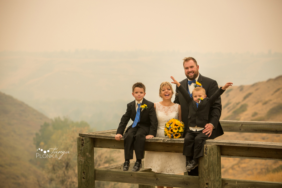 Mandy and Chris, smokey coulee wedding photos Lethbridge
