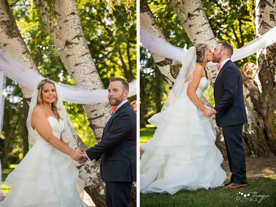 Krysty and Kole, Lethbridge Research Centre outdoor wedding ceremony