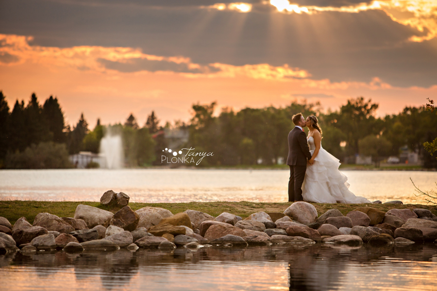 Krysty and Kole, Henderson Lake wedding sunset photography